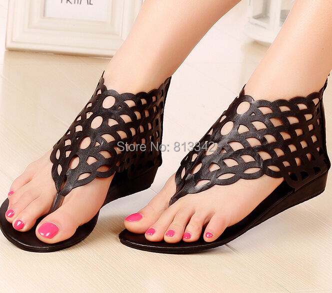 ФОТО New 2017 Summer Women's Sandals Beach Rome Style Fashion Wedges For Female Party Shoes Cut Outs Sweet Euro size35-40