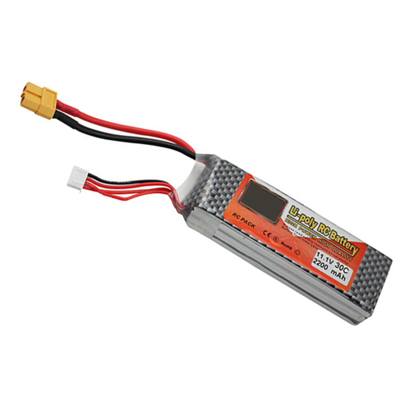 Lithium Polymer Lipo Battery 11.1V 2200Mah 3S 30C XT60 For RC Helicopter Qudcopter Drone Truck Car Boat Bateria on polymer battery 3 7v 502030 ext mp3 shaking his stick bluetooth watch 052030 lithium battery