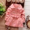 Niñas cardigan, capa de los niños los niños de color rosa de Encaje de algodón ropa de niños, Primavera Otoño Chaquetas Tamaño 2-5