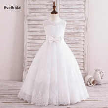 все цены на Tulle Lace A Line Bow Flower Girl Dresses for Wedding First Communion Dresses Wedding Party Dress  Runway Show Pageant Danceway онлайн