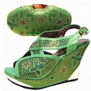 Image 5 - Chaussures et sacs italiens de couleur argentée pour assortir les chaussures avec lensemble de sacs ventes chez les femmes chaussures assorties et ensemble de sacs sac de chaussures de haute qualité