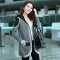 Revestimento do revestimento da mola das mulheres moda feminina outono outerwear casuais primavera e no outono e inverno de médio longo sweater cardigan
