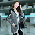 Women's spring jacket coat female fashion autumn outerwear casual spring and autumn and winter middle long sweater cardigan