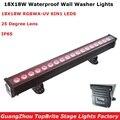 2019 Новое поступление 18X18 Вт RGBWA-UV 6IN1 светодиодный бар для настенных светильников IP65 DMX512 затопление, вызванное стиральной машиной света Dj рей...