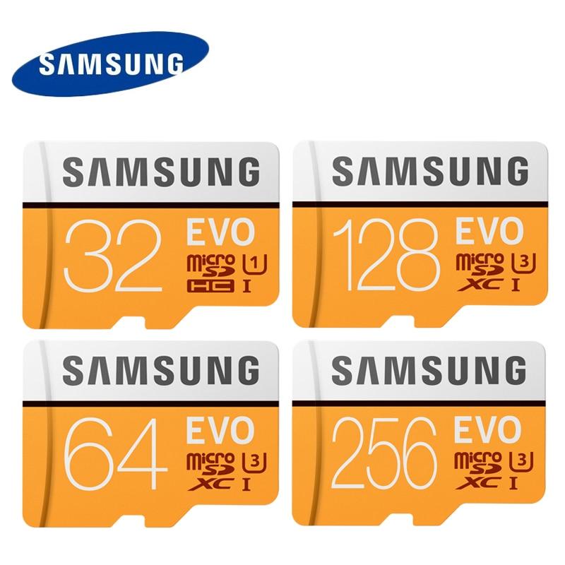 SAMSUNG EVO Micro SD Card 64G 128G U3 4K UHD Class10 UHS-I 100MB/S SDXC Flash Memory Card 32GB U1 FHD SDHC 95MB/S TF Cards