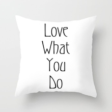 Black and White words print pillow case 2019 new pillowcase home decorative pillow cover 45*45 cm Throw Pillowcase avocado print pillowcase