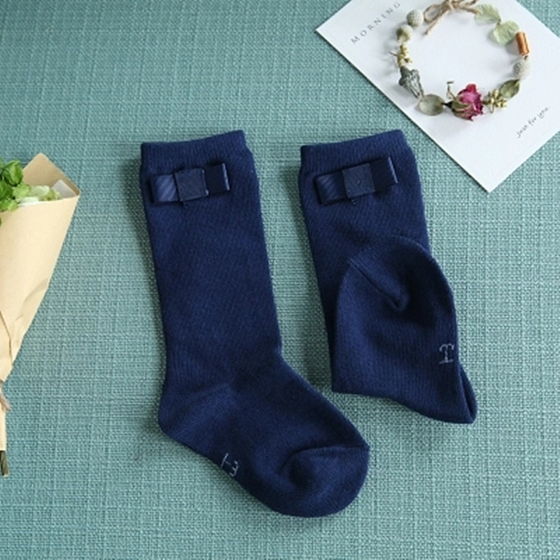 Baby-Girls-Knee-Socks-with-Bows-Girls-Princess-Bowknot-Socks-Kids-School-Socks-Long-Tube-Childrens-Leg-Warmer-Creamy-White-Blue-3
