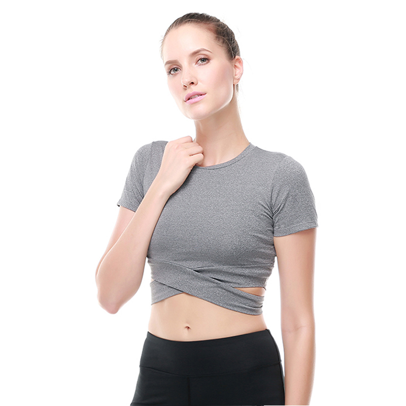 Women Harajuku Sexy Sporting Tops Comprehensive Dry Quick T shirts Short Sleeves Compression Runns Elastic Fitness Shir