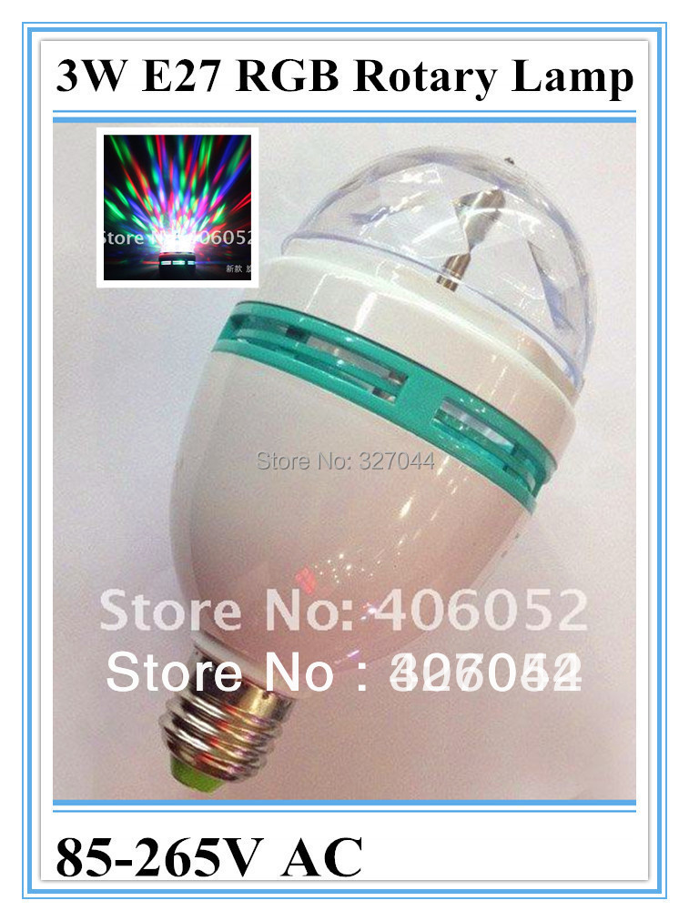 4W RGB LED Stage lamp Colourful LED 360 Degrees Rotary Lamp Projecting Lamp Illumination Lamp 50pcs/lot