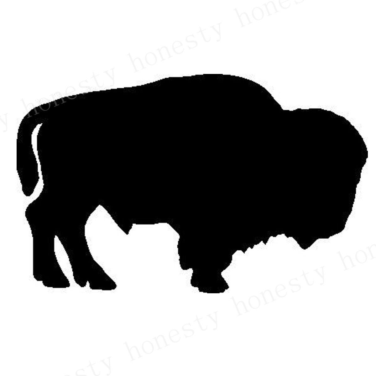 Buffalo Standing Car Wall Home Glass Window Door Car Sticker Auto Laptop Truck Home Black Naimal Vinyl Decal Sticker Decor Gift