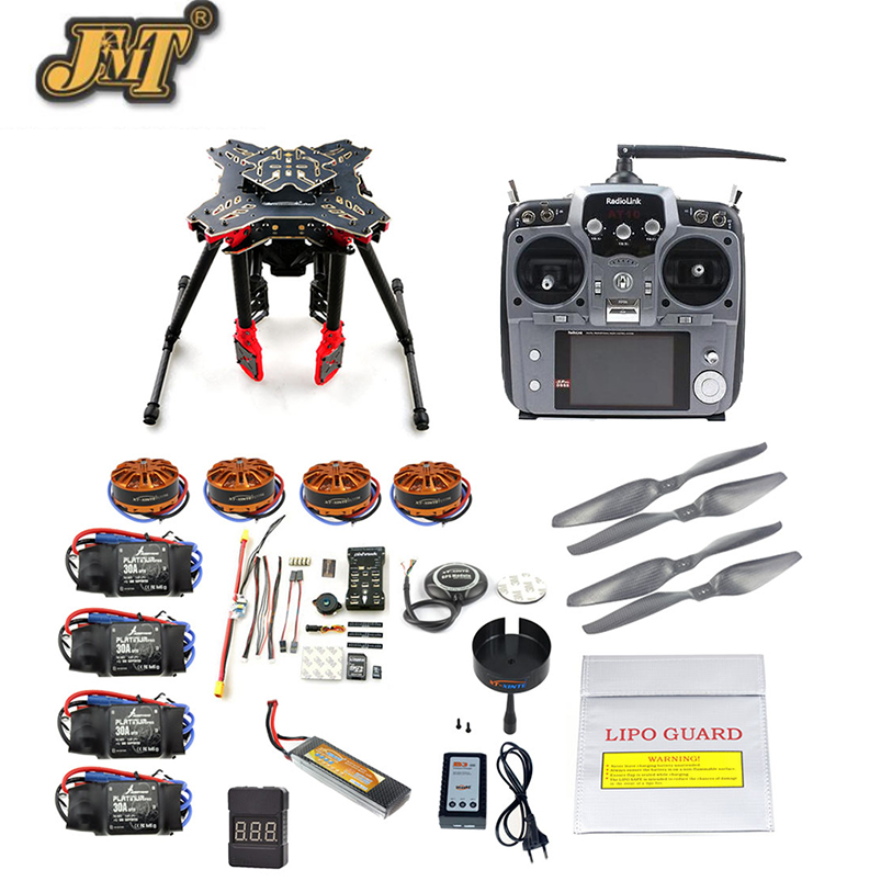 JMT DIY GPS Drone RC Quadcopter HMF U580 Totem Series PIX Flight Control 700KV Motor 30A ESC Radiolink AT10 TX&RX Full set diy fpv mini drone qav210 zmr210 race quadcopter full carbon frame kit naze32 emax 2204ii kv2300 motor bl12a esc run with 4s