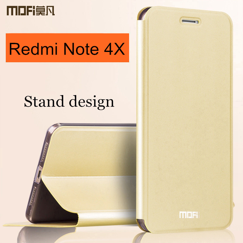 Xiaomi Redmi Note x case cover silicon back MOFi original flip leather
