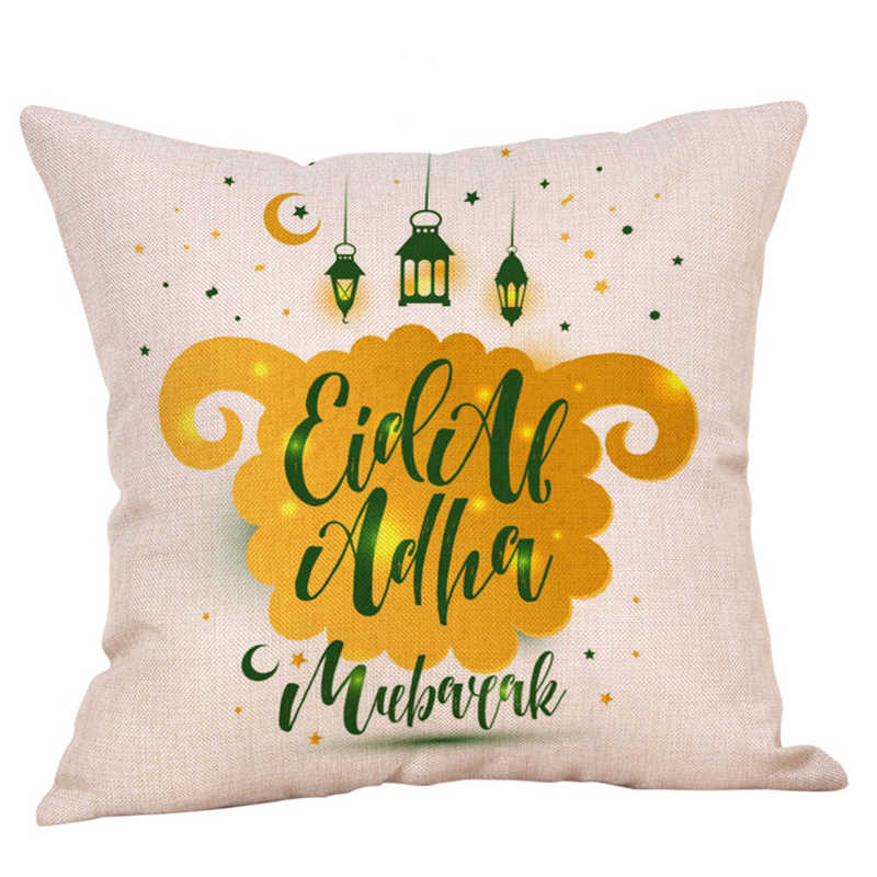 Image 4 - Eid Al Fitr Line Letter Pattern Pillowcases Cover Super soft fabric Home Cushion Throw Bedding Pillow Case Pillow Covers-in Pillow Case from Home & Garden