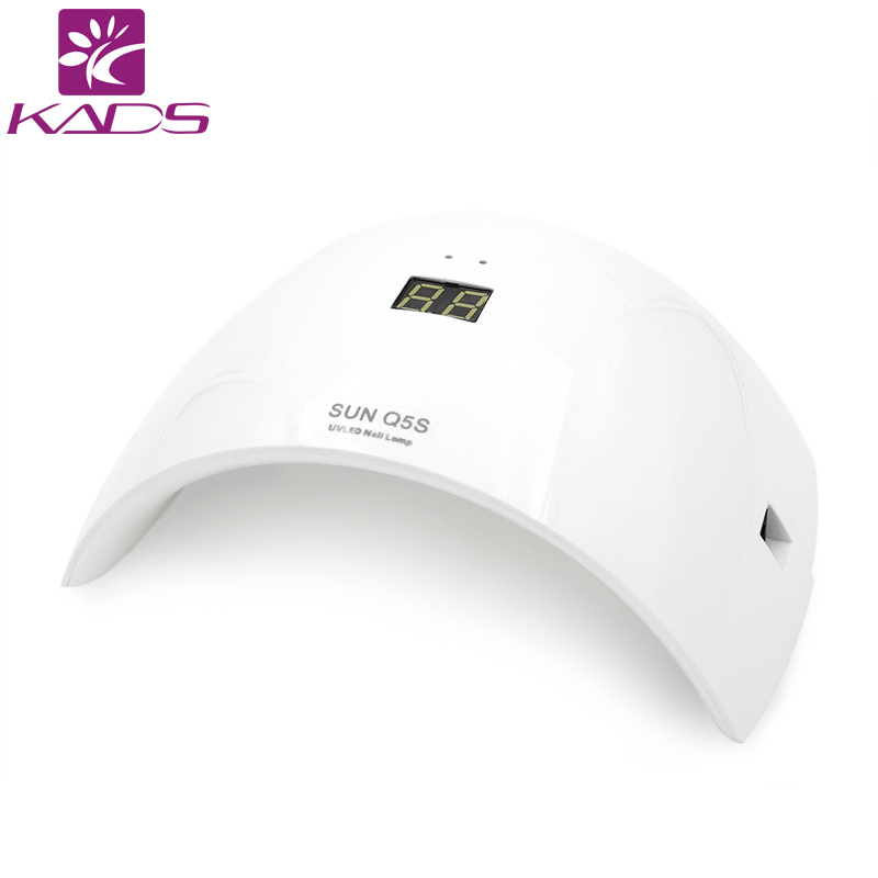 KADS  New Arrival  24W Professional UV LED Lamp Nail Dryer White Light LED UV Lamp High Quality For Curing UV Gel Nail Art Tools new professional dc 12v 2a 24w uv led nail lamp nail dryer unique design intelligent induction three setting buttons an adapter