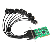 8 Ports PCI Serial Expansion Card RS232 COM DB9 Pin 1058 Chipset w/Cable