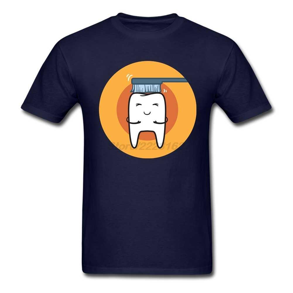 American Apparel koszulki z krótkim rękawem mężczyźni szary Camisa niestandardowe Cartoon szczotkowanie zębów dla zespołu duży rozmiar