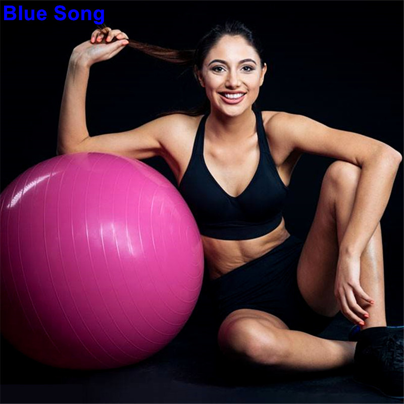Asia & Pacific Islands Clothing Fast Deliver Genuine Blue Song 95cm Smooth Yoga Ball Slimming Exercise Environmental Protection Explosion-proof Large Size Yoga Fitness Ball Traditional & Cultural Wear