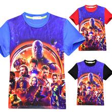 Baby Boys Clothes Kids T Shirt Avengers Alliance 3 Print Short Sleeve T-shirts Cotton Girl T-shirt Cartoon O-neck T Shirt