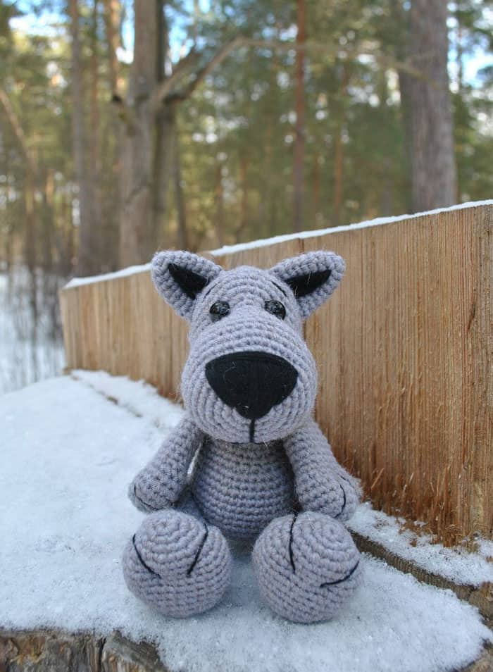PATTERN: Wilson the Wolf Pup - Crochet wolf pattern - amigurumi ... | 954x700