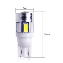 10Pcs T10 W5W 168 194 SMD 5630 T10 LED Wedge Lights Side Bulb For Car Tail light Side Parking Dome Door Map light