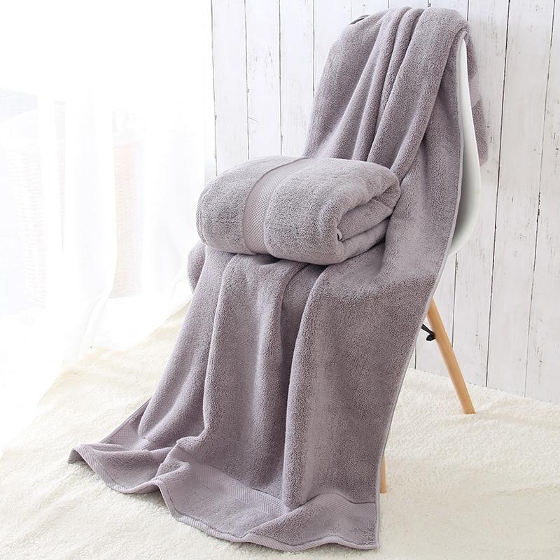 1 pz 80*160 cm 800g di Spessore di Lusso di Cotone Egiziano Asciugamani Da Bagno, egiziano Della Spiaggia del Cotone di Spugna Asciugamani Da Bagno per Adulti, Serviette de Bain