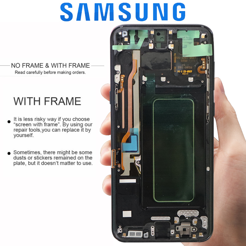 HTB1B8U9XEGF3KVjSZFoq6zmpFXay Original LCD For Samsung Galaxy S8 S8 plus G950 G950F G955fd G955F G955 Burn-in Shadow Lcd Display With Touch Screen Digitize