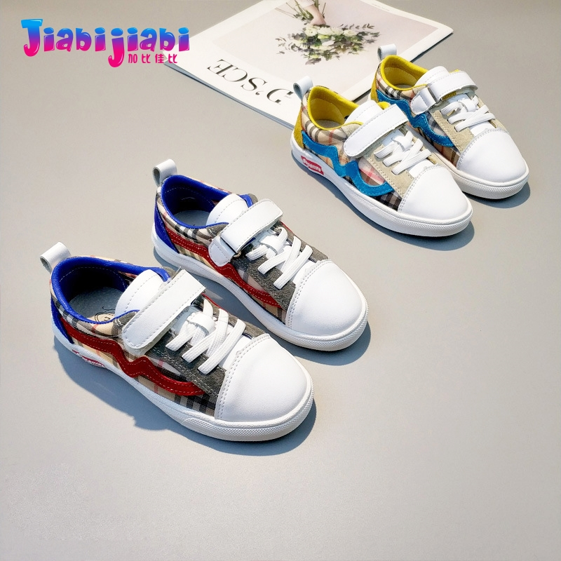 3-12T New Autumn Children Student Plaid Boys Sport Shoes Flats Girls Run Casual Shoes Toddler Kids Real Leather Sneaker G09310 uovo autumn new boys shoes girls shoes children s casual sport shoes breathable comfort sneaker for kids high quality shoes