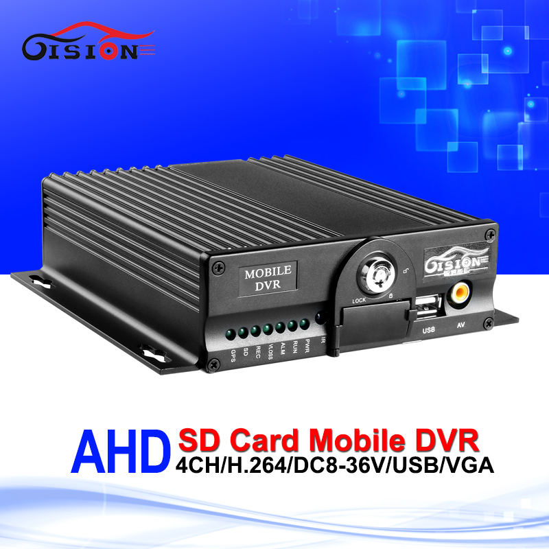Newest 4CH HD 720P AHD Car Mobile Dvr Dual SD Card 24H Monitoring CCTV Surveillance System Car Recorder Dvr For Bus Taxi apv mdr7208 1080p ahd car mobile dvr support video audio monitoring intercom ptz alarm over speed geo fence etc through remote