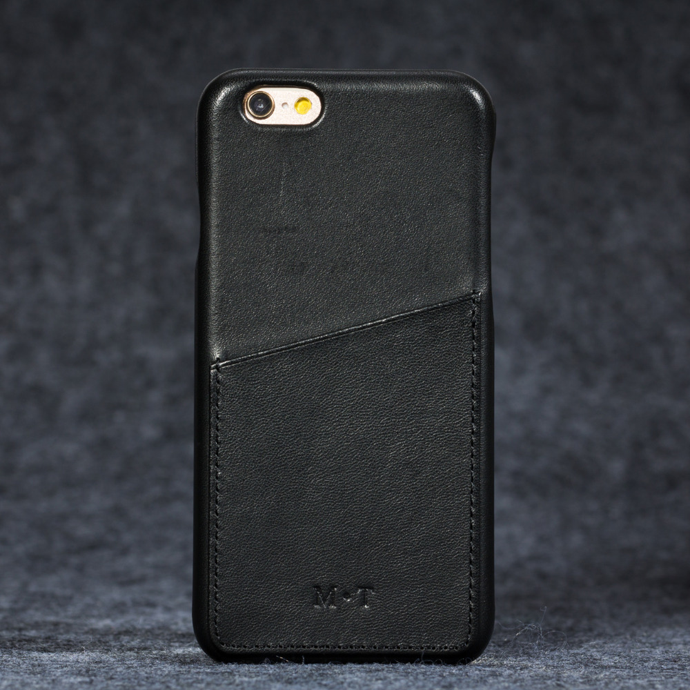Étui pour iphone 6 7 en cuir pleine fleur espagne de marque de luxe avec fente pour cartes
