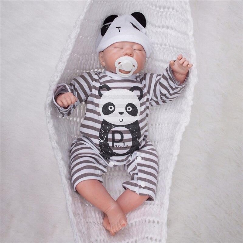 OtardDolls Bebe Baby Reborn Doll 20 inch 50cm Silicone Vinyl Adorable Lifelike Toddler Baby Bonecas Kid