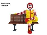 3980pcs PZX Mini building block Cartoon figures bricks McDonalds Model Brinquedos for Children Birthday Gifts Kids Toys 8833