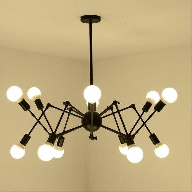 Vintage Edison LED Spider 8/12/16 arms Lampadario Luci Lampade per ...