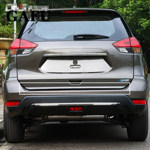 For Nissan X-Trail XTrail ROGUE T32 2017 2016 2015 2014 Sticker Stainless Steel back door Tailgate trim 1pcs Car Accessories цена