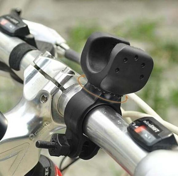 New Arrival  Bicycle Bike Cycling Flashlight Torch LED Mount Holder Clip Clamp 360 Degree Swivel