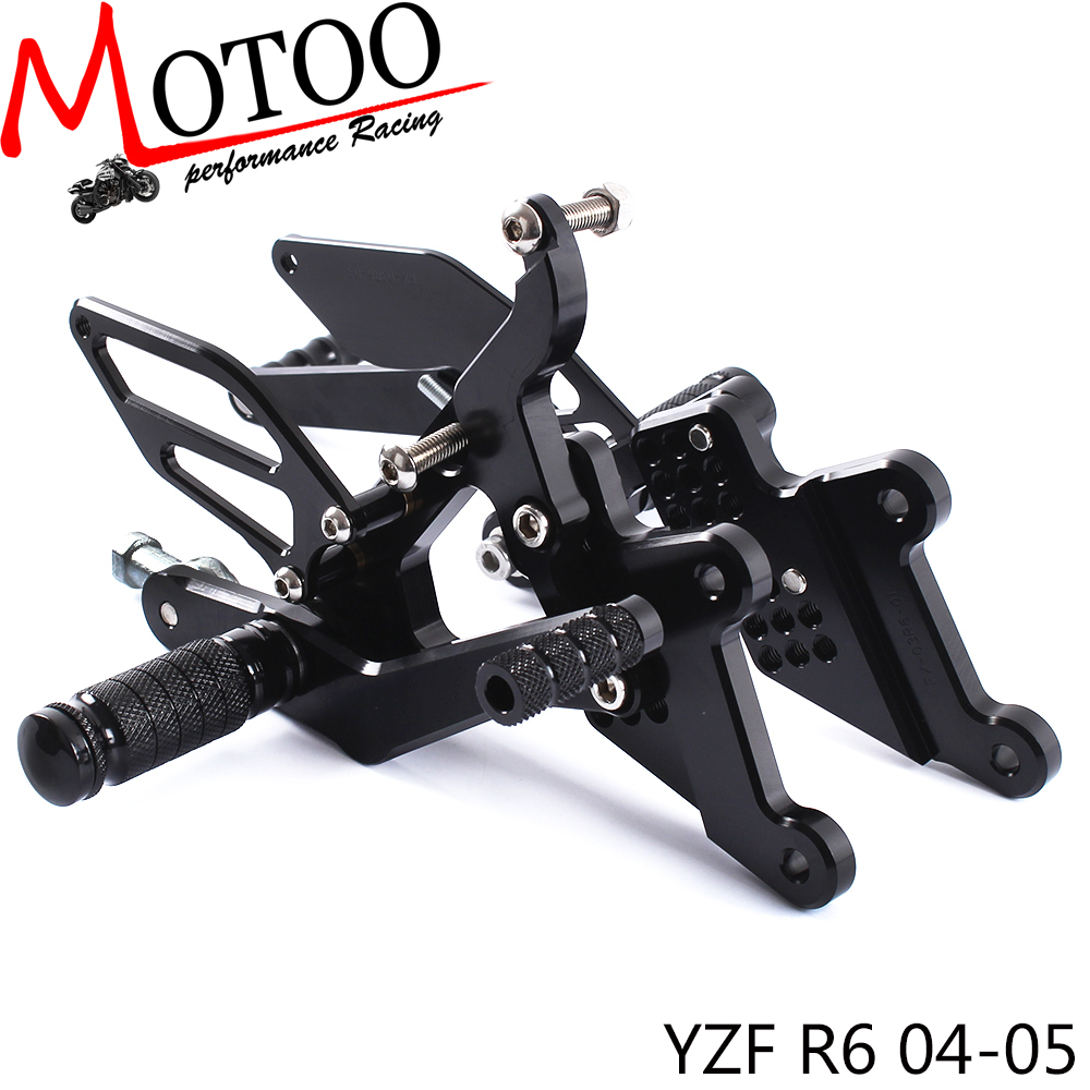 Full CNC aluminum Motorcycle footrest footpeg foot peg pedal  Rearset Rear Set For YAMAHA YZF-R6 2004-2005Full CNC aluminum Motorcycle footrest footpeg foot peg pedal  Rearset Rear Set For YAMAHA YZF-R6 2004-2005