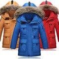 2016 Nuevos Niños del pato Abajo Chaquetas/abrigos Parkas de piel real Big boy Outerwears Abrigo gruesa Abajo chaqueta de plumas winter-40degree