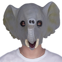Latex Elephant Party Mascaras Animal Masks Party Halloween Masquerade Masker Scary Animal Mask Funny Carnival Masque Cosplay