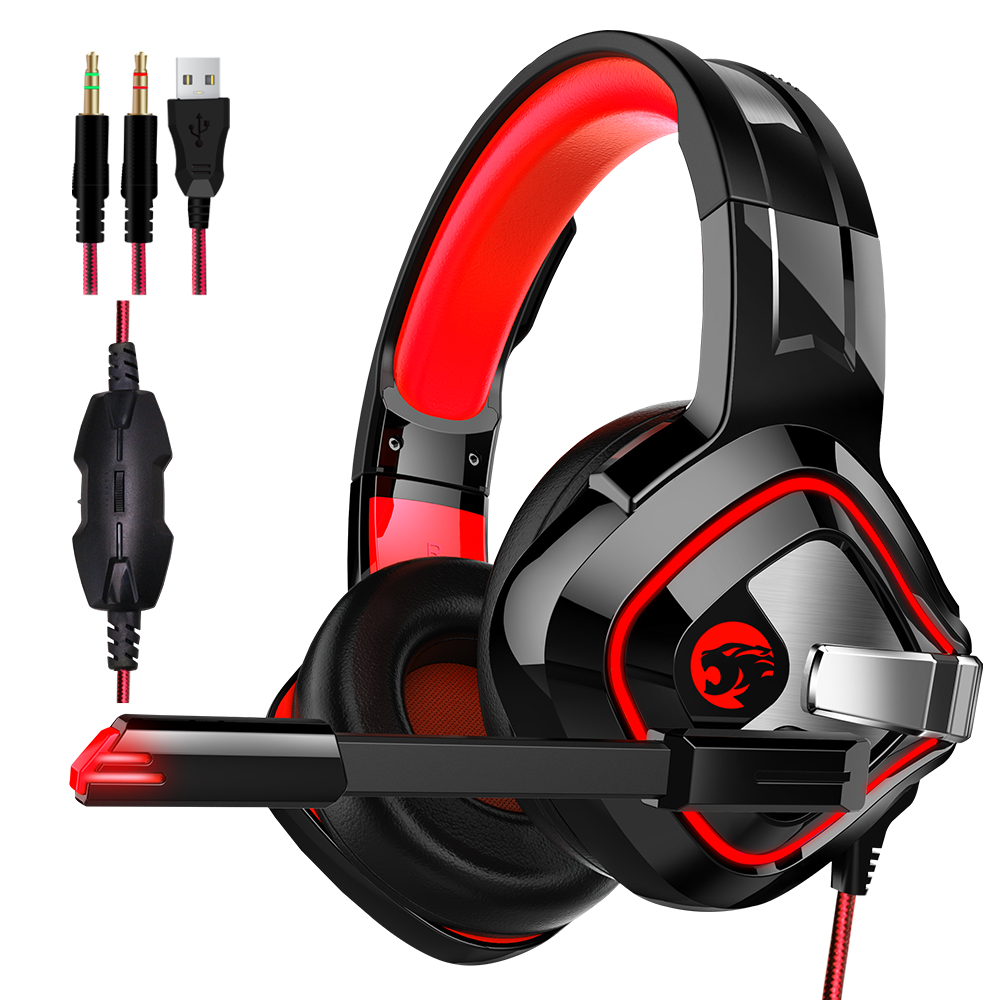 WAYWALERS A10 A66 Computer Stereo Gaming Headphones Best casque Deep Bass Game Earphone Headset with Mic LED Light for PC Gamer