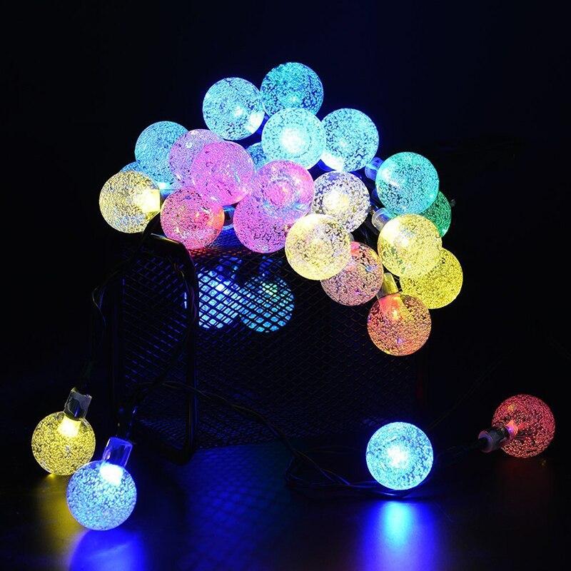 feimefeiyou 4/6M 20/30 LED Solar Bubble String Lights Bulbs Decorative Lights For Christmas Tree Home Wedding Party Decoration