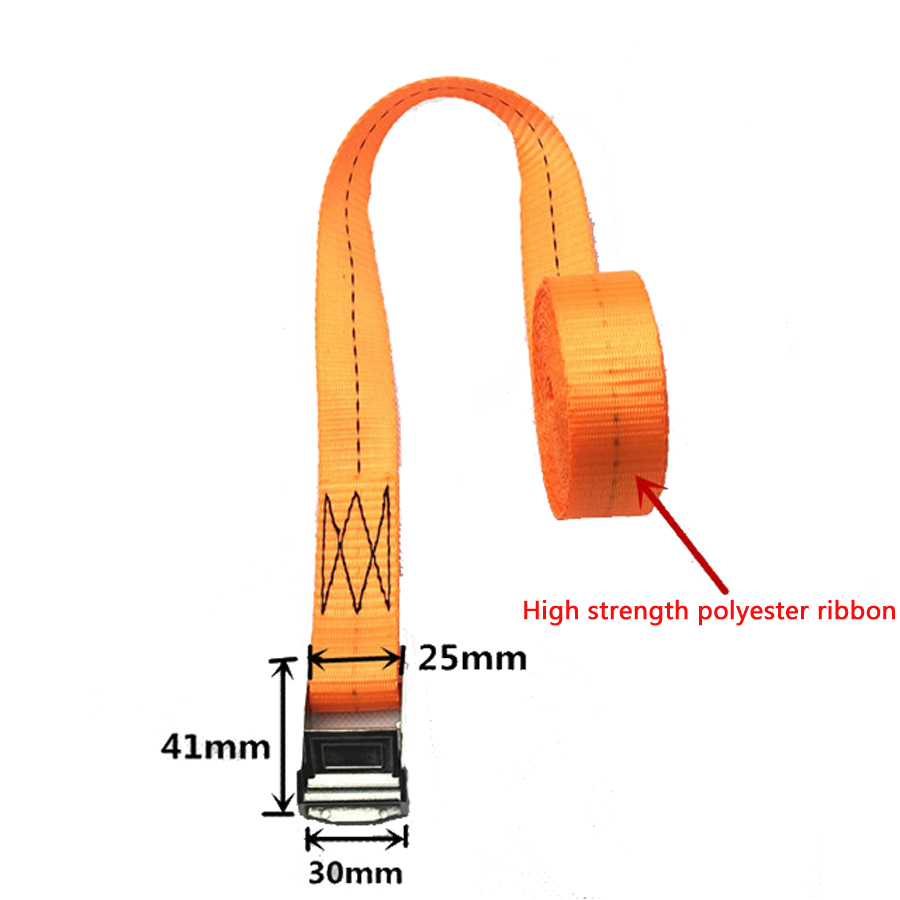 5 meter length 2.5CM with car tension rope Ratchet Ratchet Tie luggage strap tied with fixed cargo