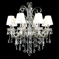 European Style Candle Crystal Chandelier Lamp House The Living Room Dining Bedroom Chandelier New Chandelier