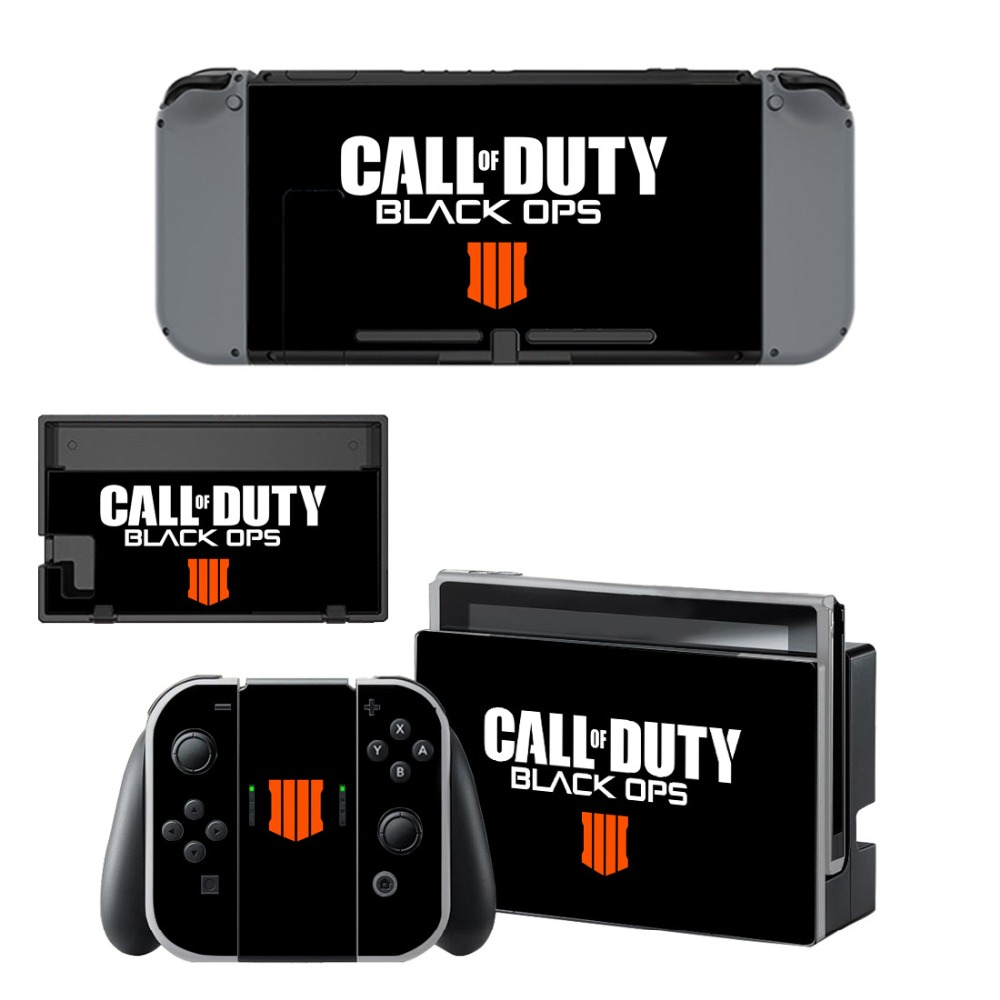 Call of Duty Black OPS Vinyl Skin Decal Sticker Wrap for Nintendo Switch Console Joy-Con Dock Skins