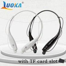 LUOKA-730 слот для карты SD Беспроводной bluetooth-гарнитура Спорт Bluetooth Наушники наушники с микрофоном бас наушники для Samsung iPhone