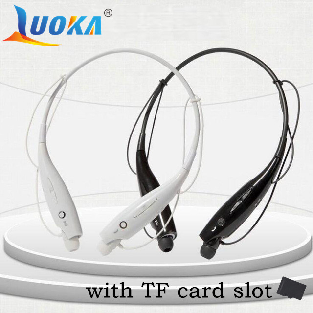 Luoka-730 ranura para tarjeta sd wireless bluetooth headset deportes auriculares