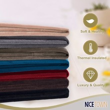 Nicetown Classic – Velvet Textured Woven Home Theater Grommet Top Blackout Curtains (One Piece, W52xL84/96-inch, Ruby Red)