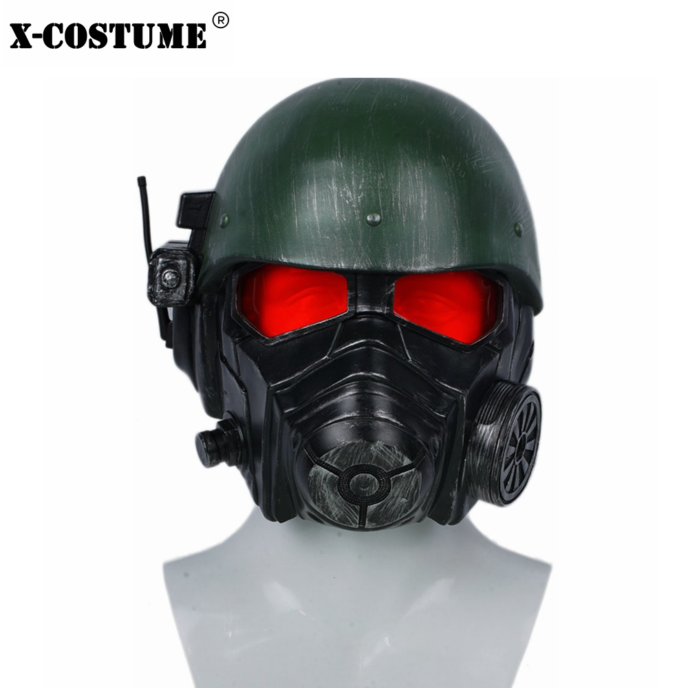 Fallout 4 Veteran Ranger Helmet Game Cosplay Mask Riot Armor Full Head High Quality Resin Helmet Halloween Festival Party Prop image