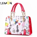 6 Color 2017 New Brand Cartoon Girl Print Ladies Bolsas Fashion Chains Women Messenger Bags Vintage Women Leather Handbags A1016