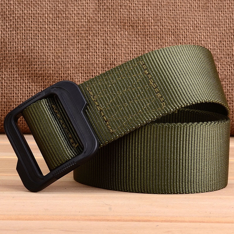 Unisex Nylon Outdoor Security Combat Duty Tactical Utility Belt Plastic Buckle 4 5cm New Style 5-1 Secret Service Nylon Woven Wa
