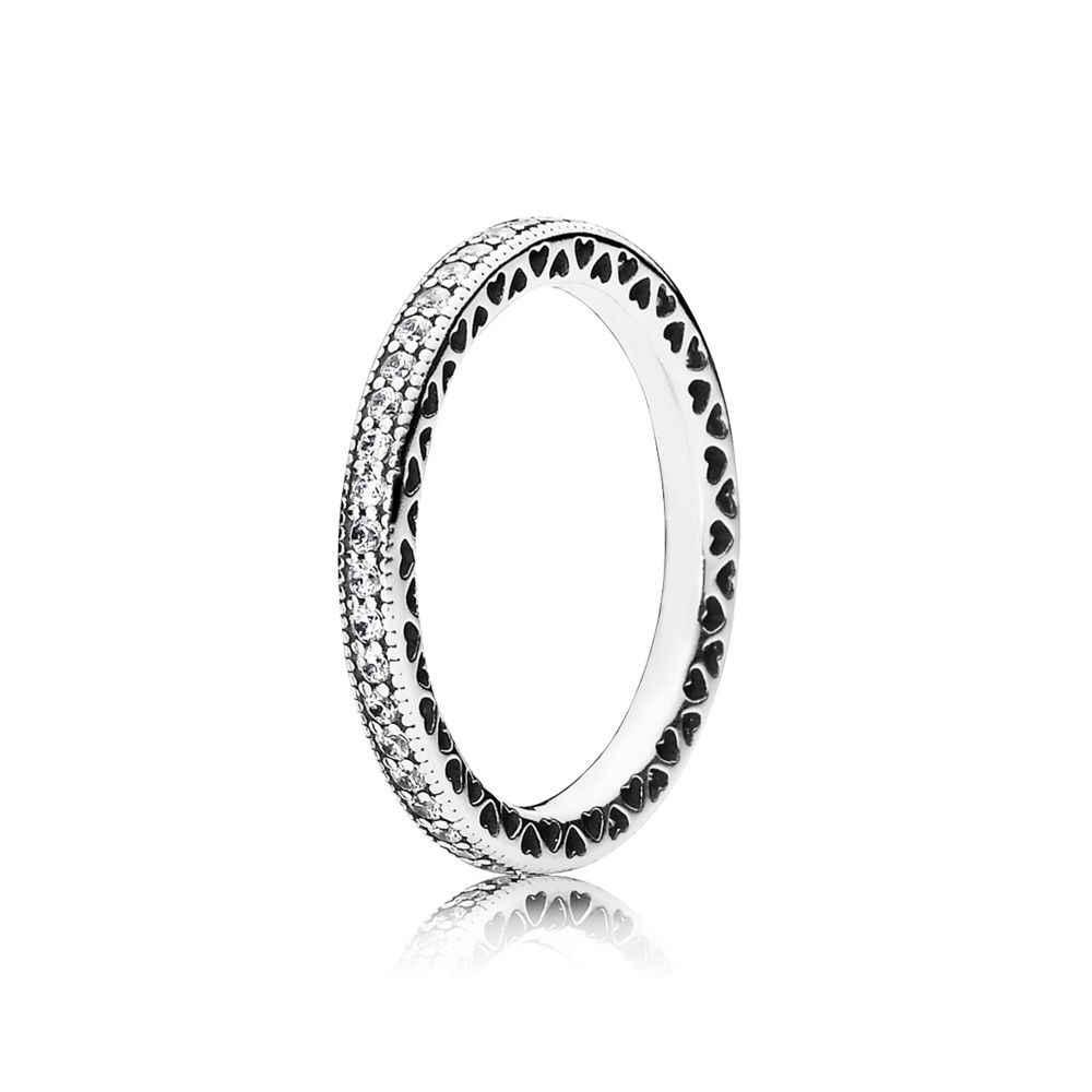 ทองสีตัวอักษรรัก 925 แหวนเงินหัวใจสีแดงแหวนไข่มุกสำหรับผู้หญิง 925 เครื่องประดับงานแต่งงาน