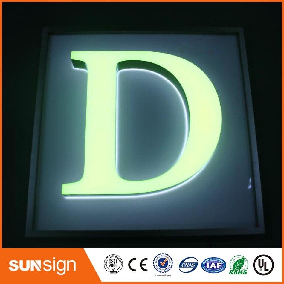 ᐅAcrílico de encargo 3D letras con luz led para publicidad exterior ...